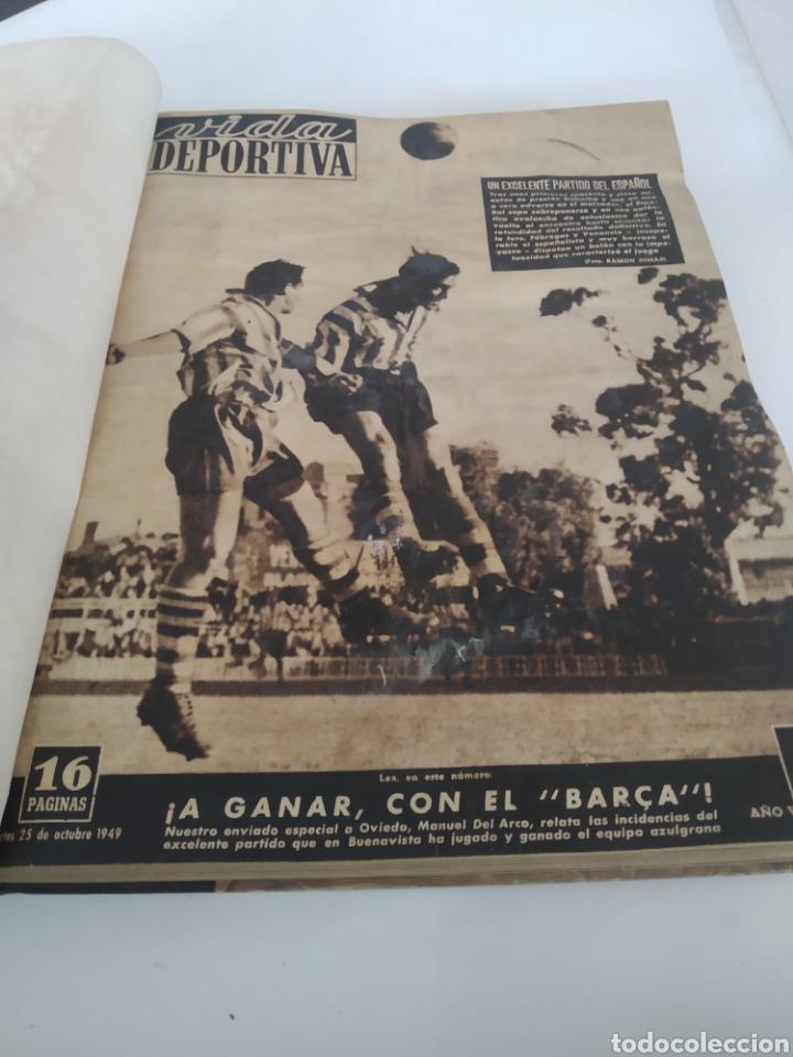 Coleccionismo deportivo: Libro con 29 periódicos de la Vida deportiva. Años 1949-1950 - Foto 14 - 229537530