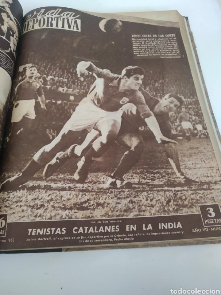 Coleccionismo deportivo: Libro con 29 periódicos de la Vida deportiva. Años 1949-1950 - Foto 15 - 229537530