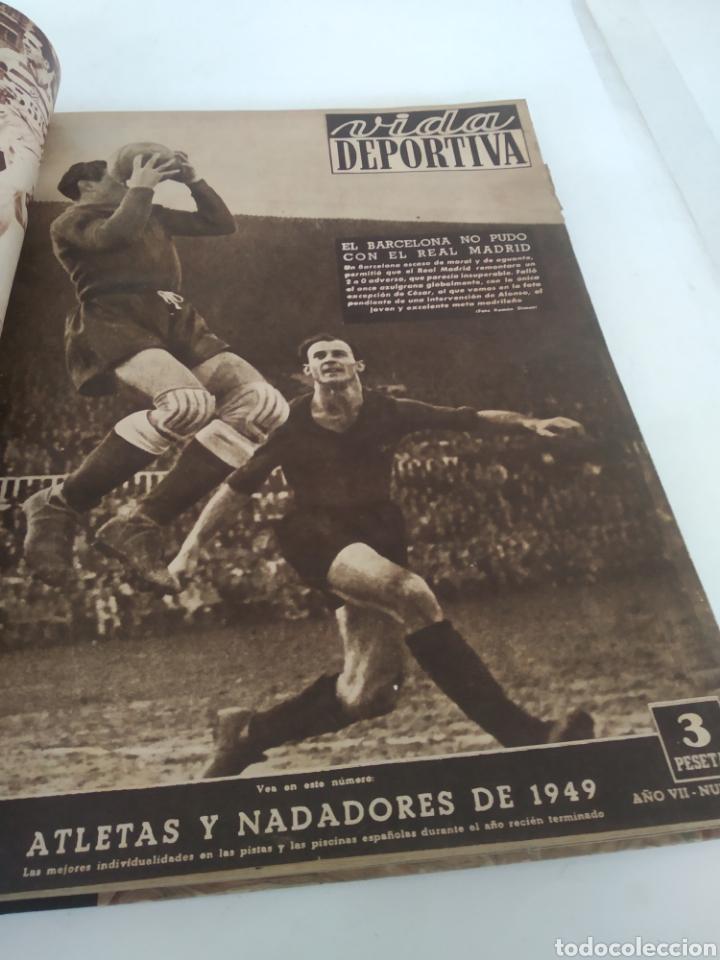 Coleccionismo deportivo: Libro con 29 periódicos de la Vida deportiva. Años 1949-1950 - Foto 16 - 229537530