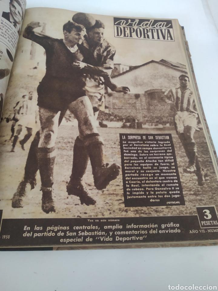 Coleccionismo deportivo: Libro con 29 periódicos de la Vida deportiva. Años 1949-1950 - Foto 17 - 229537530
