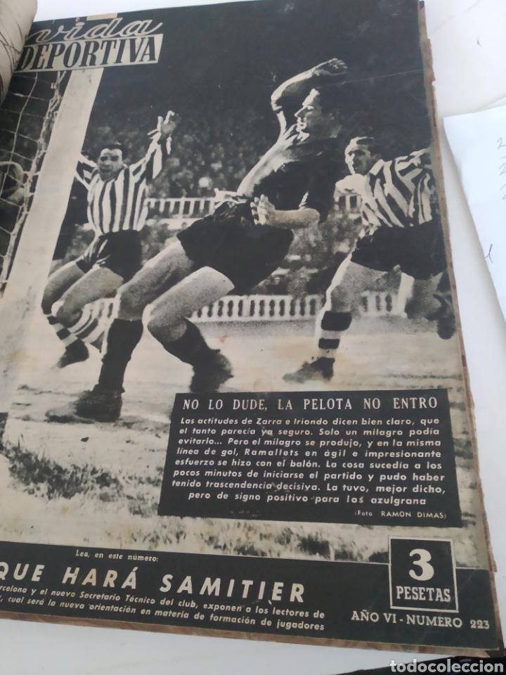 Coleccionismo deportivo: Libro con 29 periódicos de la Vida deportiva. Años 1949-1950 - Foto 18 - 229537530