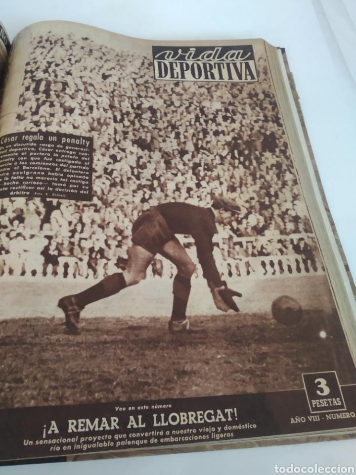 Coleccionismo deportivo: Libro con 29 periódicos de la Vida deportiva. Años 1949-1950 - Foto 19 - 229537530