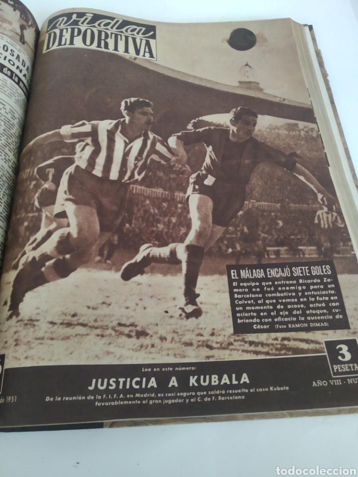 Coleccionismo deportivo: Libro con 29 periódicos de la Vida deportiva. Años 1949-1950 - Foto 20 - 229537530