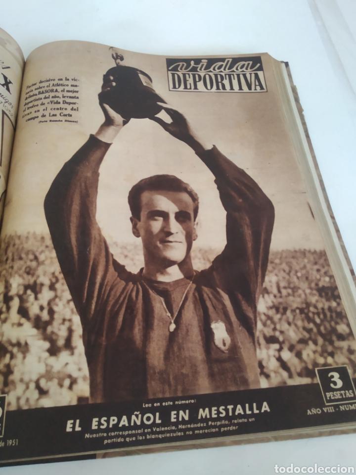 Coleccionismo deportivo: Libro con 29 periódicos de la Vida deportiva. Años 1949-1950 - Foto 21 - 229537530