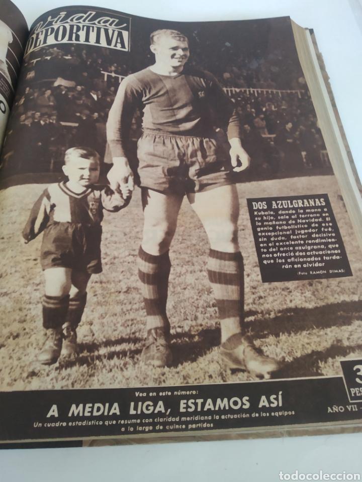 Coleccionismo deportivo: Libro con 29 periódicos de la Vida deportiva. Años 1949-1950 - Foto 22 - 229537530