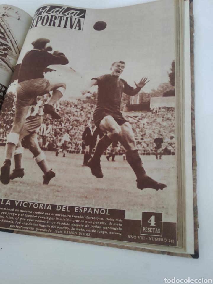 Coleccionismo deportivo: Libro con 29 periódicos de la Vida deportiva. Años 1949-1950 - Foto 24 - 229537530