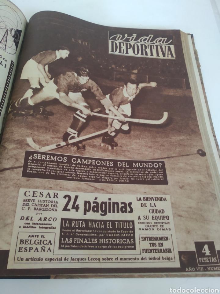 Coleccionismo deportivo: Libro con 29 periódicos de la Vida deportiva. Años 1949-1950 - Foto 25 - 229537530