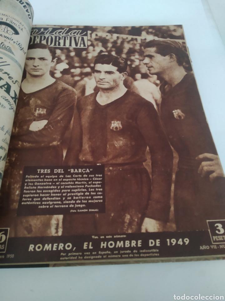 Coleccionismo deportivo: Libro con 29 periódicos de la Vida deportiva. Años 1949-1950 - Foto 27 - 229537530