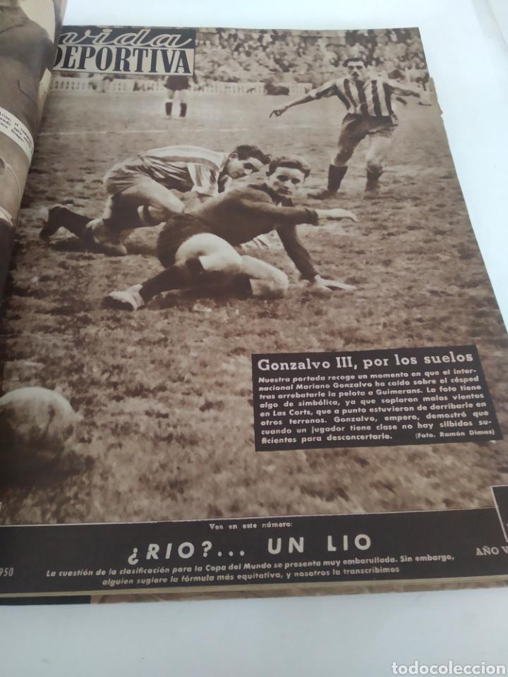 Coleccionismo deportivo: Libro con 29 periódicos de la Vida deportiva. Años 1949-1950 - Foto 28 - 229537530