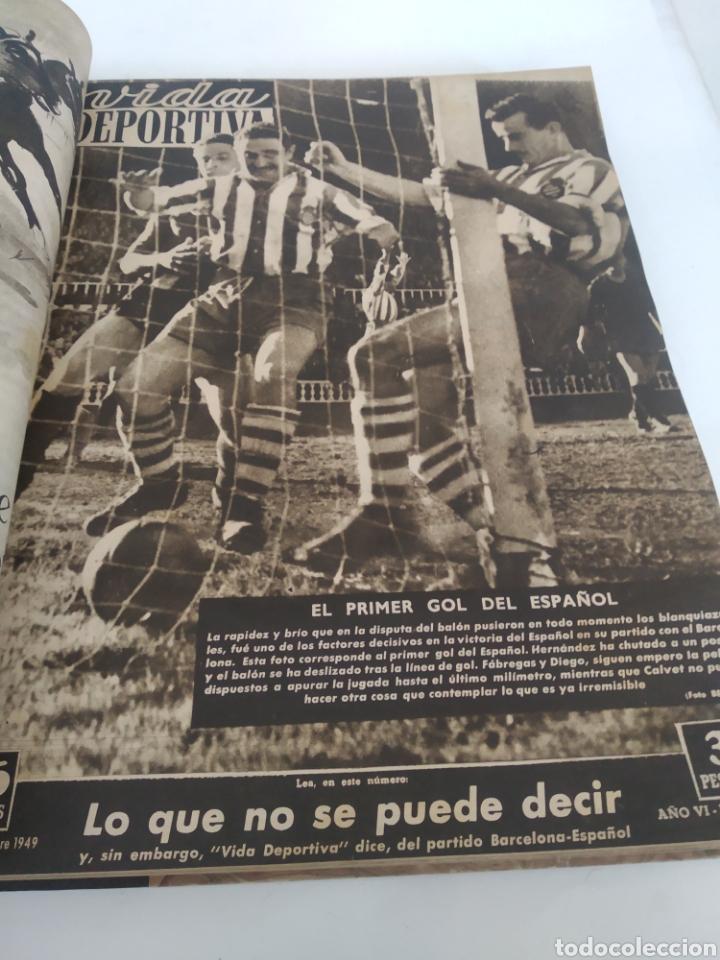 Coleccionismo deportivo: Libro con 29 periódicos de la Vida deportiva. Años 1949-1950 - Foto 29 - 229537530