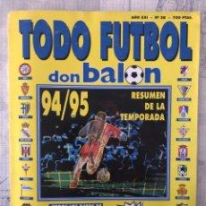 Coleccionismo deportivo: DON BALÓN EXTRA TODO FÚTBOL NÚMERO 28 - TEMPORADA 94-95 - GUÍA ALBUM MARCA AS PANENKA CROMO. Lote 229650505