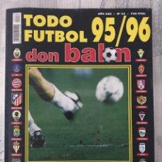 Coleccionismo deportivo: DON BALÓN EXTRA TODO FÚTBOL NÚMERO 33 - TEMPORADA 95-96 - GUÍA ALBUM CROMO MARCA PANENKA AS. Lote 229651170