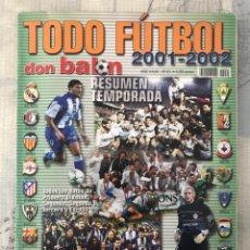 Coleccionismo deportivo: DON BALÓN EXTRA TODO FÚTBOL NÚMERO 61 - TEMPORADA 2001-2002 - GUÍA ALBUM CROMO AS MARCA PANENKA. Lote 229656665