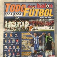 Coleccionismo deportivo: DON BALÓN EXTRA TODO FÚTBOL NÚMERO 68 - TEMPORADA 2002-2003 - GUÍA ALBUM CROMO AS MARCA PANENKA. Lote 229657330