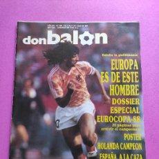 Coleccionismo deportivo: REVISTA DON BALON Nº 664 ESPECIAL HOLANDA CAMPEON EURO 1988 ALEMANIA POSTER EUROCOPA EC 88 GULLIT. Lote 229726385