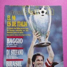 Coleccionismo deportivo: REVISTA DON BALON Nº 762 AC MILAN CAMPEON COPA EUROPA 89/90 POSTER WINNER CHAMPIONS LEAGUE 1989-1990. Lote 229727675