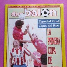 Coleccionismo deportivo: REVISTA DON BALON Nº 819 ATLETICO DE MADRID CAMPEON COPA DEL REY 90/91 POSTER ATLETI 1990 1991. Lote 229743935