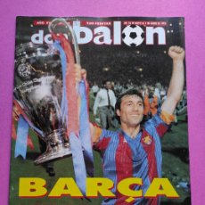 Coleccionismo deportivo: REVISTA DON BALON Nº 865 ESPECIAL FC BARCELONA CAMPEON COPA DE EUROPA 91/92 POSTER BARÇA 1991/1992. Lote 229745585