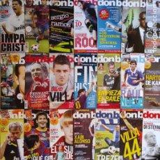 Coleccionismo deportivo: LOTE 28 REVISTAS DON BALON AÑO 2010 Nº ENTRE 1785 Y 1834 - FUTBOL POSTER LIGA. Lote 230016570