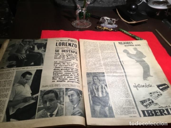 Coleccionismo deportivo: Antiguo periódico marca 1003 puskas,Di Stefano y Gento - Foto 5 - 230152475