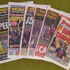 Coleccionismo deportivo: FC BARCELONA CAMPEÓN DE LA SUPERCOPA DE EUROPA. LAS 5 SUPERCOPAS DEL BARÇA. Lote 230679645
