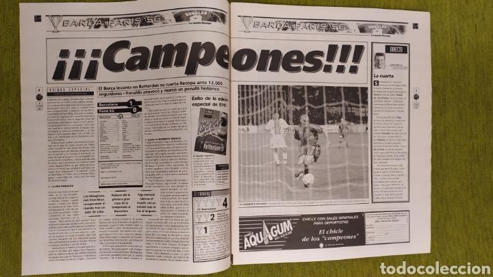 Coleccionismo deportivo: FC BARCELONA CAMPEÓN DE LA RECOPA DE EUROPA 1997. LA CUARTA RECOPA DEL BARÇA. MUNDO DEPORTIVO - Foto 2 - 230680780