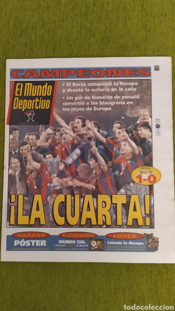 FC BARCELONA CAMPEÓN DE LA RECOPA DE EUROPA 1997. LA CUARTA RECOPA DEL BARÇA. MUNDO DEPORTIVO (Coleccionismo Deportivo - Revistas y Periódicos - Mundo Deportivo)