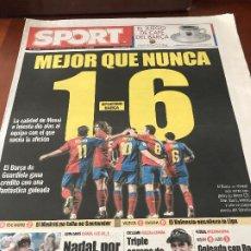 Collectionnisme sportif: PORTADA SPORT 22-09-2008 VICTORIA LIGA SPORTING - FC BARCELONA. Lote 230736590
