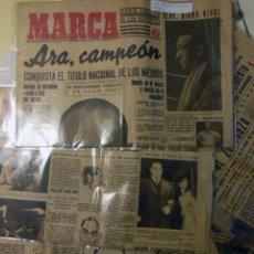 Coleccionismo deportivo: MARCA. DIARIO GRÁFICO DE LOS DEPORTES. LOTE 10 PRIMEROS NÚMEROS (DEL Nº 1 AL Nº 10) 1942. Lote 230739105