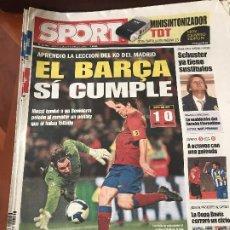 Collezionismo sportivo: PORTADA SPORT 13-11-2008 VICTORIA COPA FC BARCELONA - BENIDORM. Lote 230739910