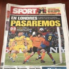 Colecionismo desportivo: PORTADA SPORT 29-04-2009 EMPATE IDA CHAMPIONS FC BARCELONA - CHELSEA. Lote 230760795