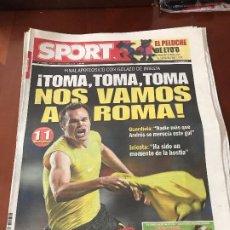 Coleccionismo deportivo: PORTADA SPORT 07-05-2009 VICTORIA VUELTA CHAMPIONS CHELSEA - FC BARCELONA GOL INIESTA. Lote 230764650