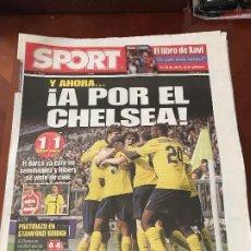 Colecionismo desportivo: PORTADA SPORT 15-04-2009 EMPATE VUELTA CHAMPIONS BAYER M - FC BARCELONA. Lote 230766145