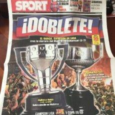 Coleccionismo deportivo: PORTADA SPORT 17-05-2009 FC BARCELONA CAMPEON LIGA POR DERROTA DEL MADRID. Lote 230766550