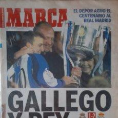 Coleccionismo deportivo: MARCA DEPORTIVO DE LA CORUÑA-REAL MADRID JUEVES 7 DE MARZO DE 2002. Lote 230806070