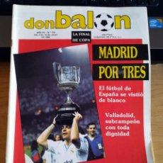 Coleccionismo deportivo: DB REVISTA DON BALÓN 716 1989 REAL MADRID CAMPEÓN COPA LAUDRUP MARADONA FC BARCELONA JUVENIL. Lote 231002725