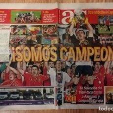 Coleccionismo deportivo: AS - 30 DE JUNIO DE 2008 - SOMOS CAMPEONES - ESPAÑA CAMPEONA DE EUROCOPA 2008 SELECCION ESPAÑOLA. Lote 231021735