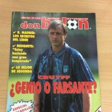 Coleccionismo deportivo: REVISTA DON BALÓN Nº 1018 - ABRIL 1995 - JOHAN CRUYFF ¿ GENIO O FARSANTE? - PÓSTER LOGROÑÉS. Lote 231287960