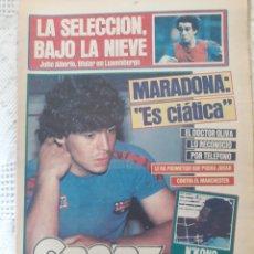 """Coleccionismo deportivo: DIARIO SPORT FEBRERO DE 1984 . MARADONA . """" ES CIATICA"""". Lote 231319725"""