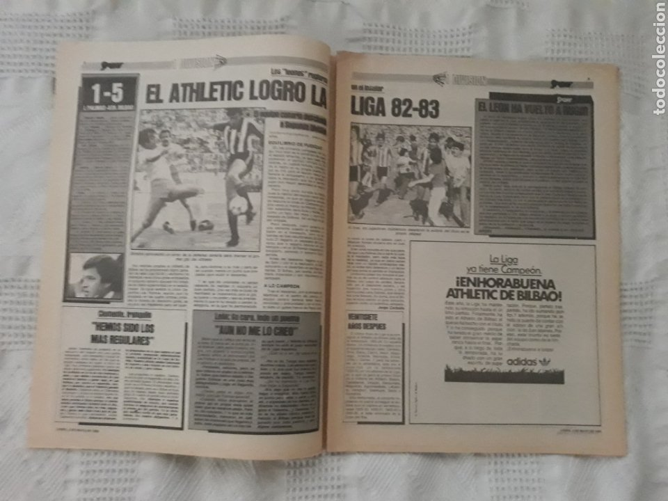Coleccionismo deportivo: DIARIO SPORT . 2 DE MAYO DE 1983 .EL ATHLETIC, CAMPEON !. - Foto 2 - 231358790