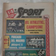 Coleccionismo deportivo: DIARIO SPORT . 2 DE MAYO DE 1983 .EL ATHLETIC, CAMPEON !.. Lote 231358790