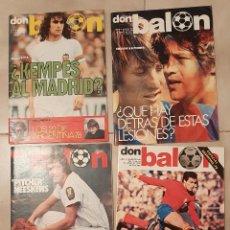 Coleccionismo deportivo: LOTE 4 REVISTAS FUTBOL DON BALON AÑ0 III 1978 Nº 124,140 ESPECIAL ARGENTINA 98,131 CRUYFF KEMPES. Lote 231532885