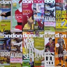 Colecionismo desportivo: LOTE 18 REVISTAS DON BALON AÑO 2004 2011 - Nº ENTRE 1516 Y 1847 - SIN POSTER - FUTBOL LIGA. Lote 231594355