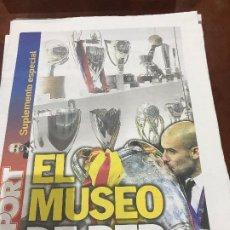"""Colecionismo desportivo: SUPLEMENTO SPORT """" EL MUSEO DE PEP """" EN EL FC BARCELONA. Lote 231596945"""