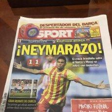 Collezionismo sportivo: PORTADA SPORT 21 Y 22-08-2013 PREVIA Y PARTIDO COPA REY IDA ATLETICO - FC BARCELONA. Lote 231604400