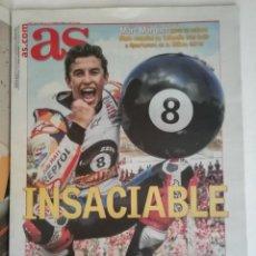 Coleccionismo deportivo: AS MARC MÁRQUEZ 8 VECES CAMPEÓN DEL MUNDO. Lote 231693485