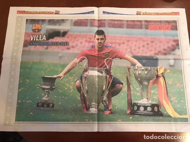 Coleccionismo deportivo: suplemento sport - villa - album de tricampeones + poster del fc barcelona 10-11 - Foto 2 - 231805440