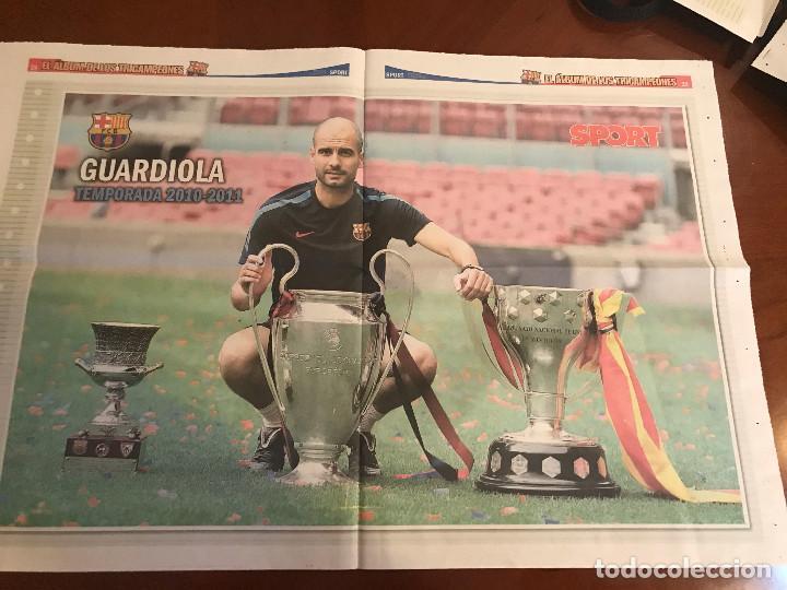 Coleccionismo deportivo: suplemento sport - guardiola - album de tricampeones + poster del fc barcelona 10-11 - Foto 2 - 231805615