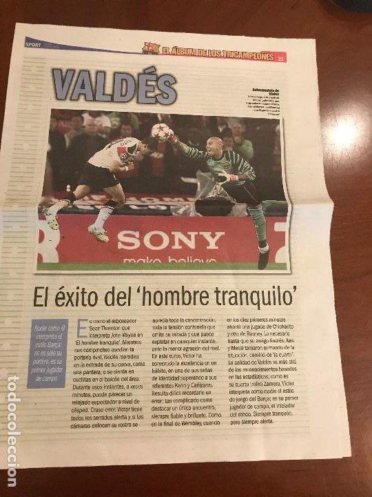 SUPLEMENTO SPORT - VALDES - ALBUM DE TRICAMPEONES + POSTER DEL FC BARCELONA 10-11 (Coleccionismo Deportivo - Revistas y Periódicos - Sport)