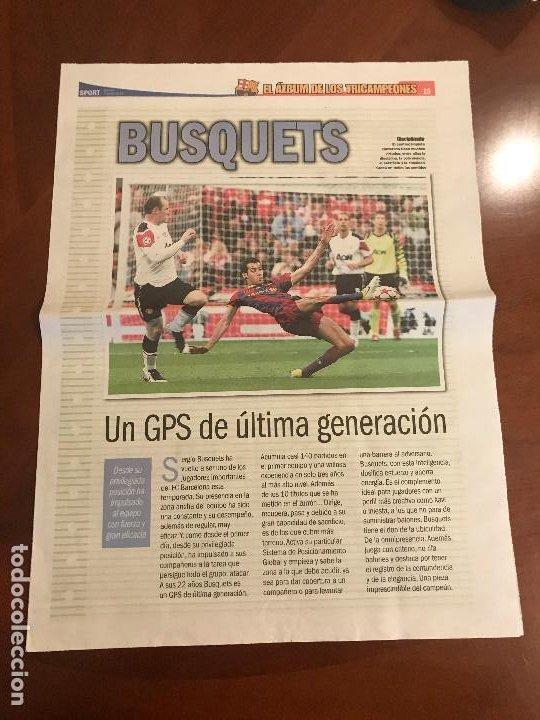 SUPLEMENTO SPORT - BUSQUETS - ALBUM DE TRICAMPEONES + POSTER DEL FC BARCELONA 10-11 (Coleccionismo Deportivo - Revistas y Periódicos - Sport)